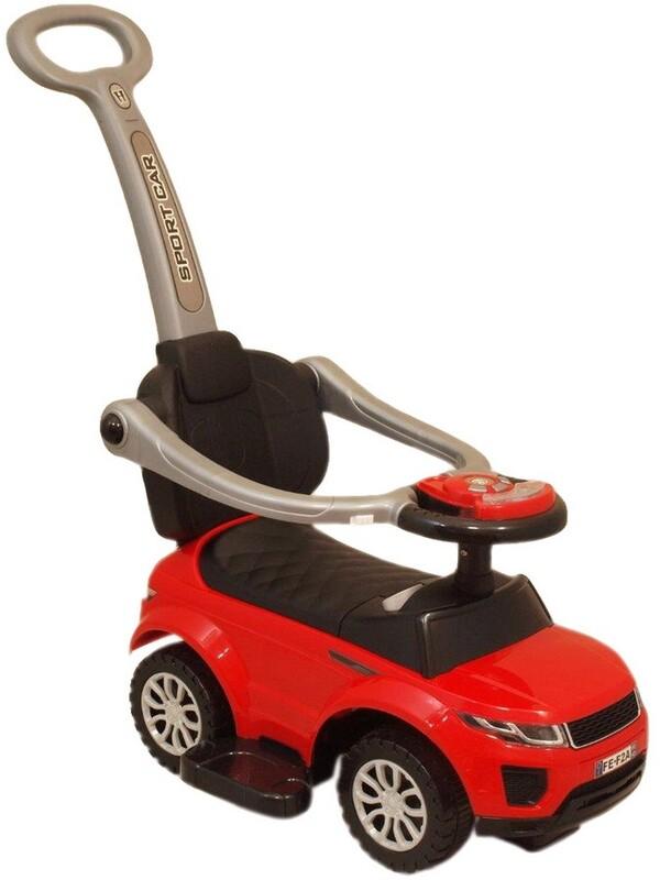 BABY MIX - Detské hrajúce vozítko 3v1 červené
