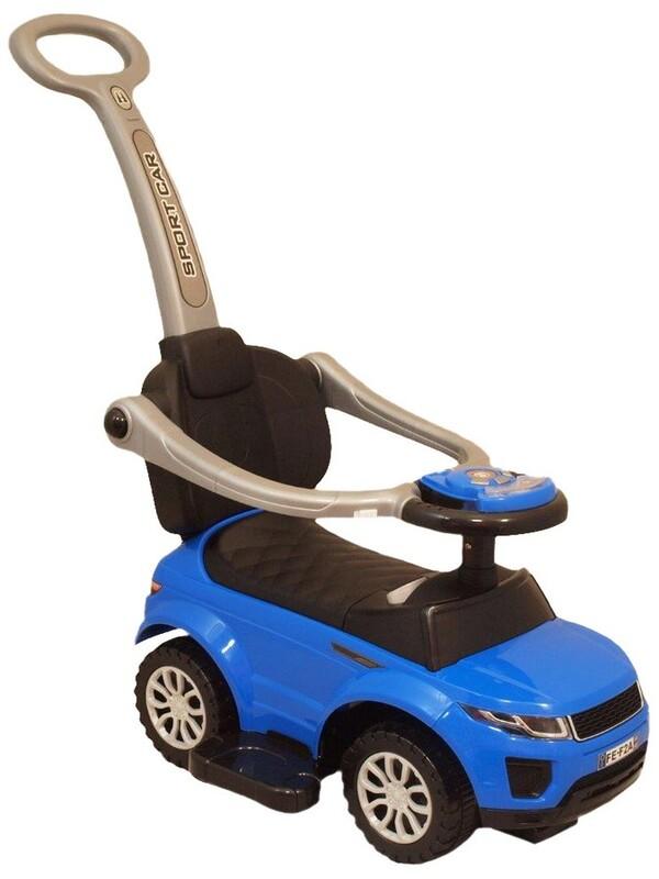BABY MIX - Detské hrajúce vozítko 3v1 modré
