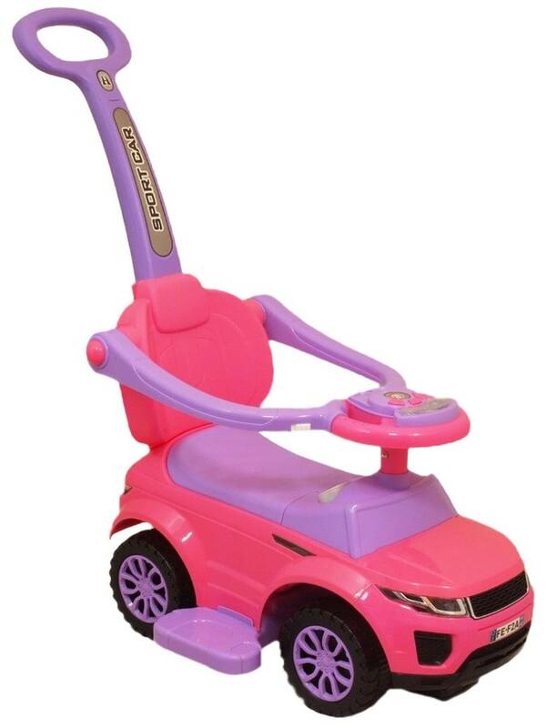 BABY MIX - Detské hrajúce vozítko 3v1 ružové