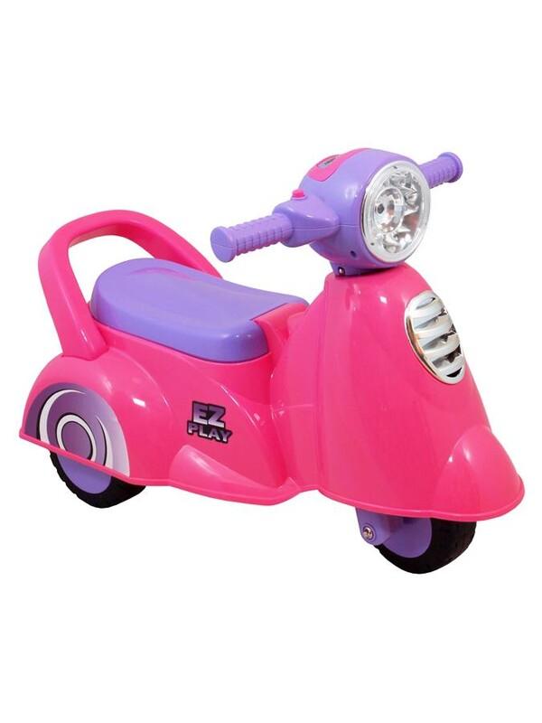 BABY MIX - Detské jazdítko so zvukomScooter pink