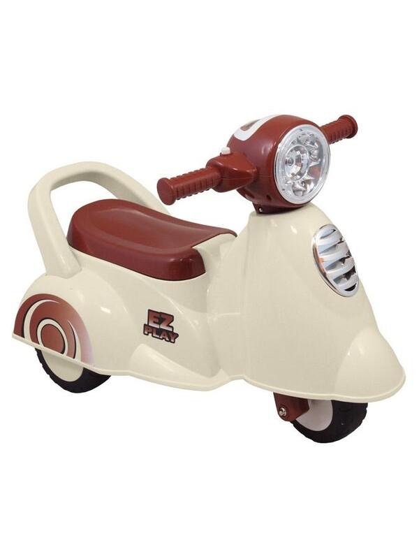 BABY MIX - Detské jazdítko so zvukomScooter white