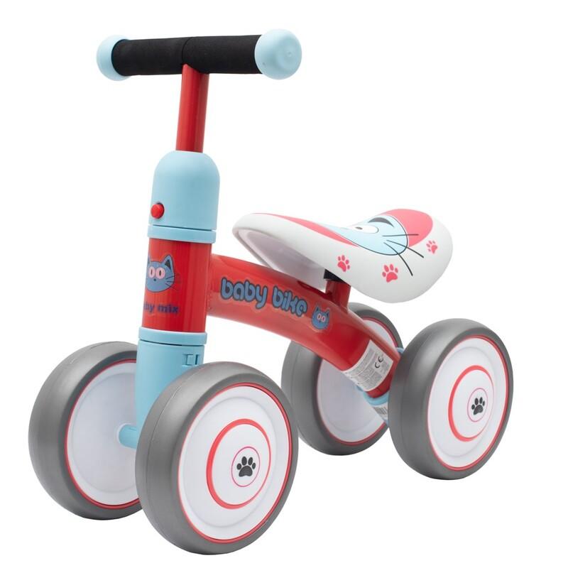 BABY MIX - Detské odrážadlo Baby Bike červené