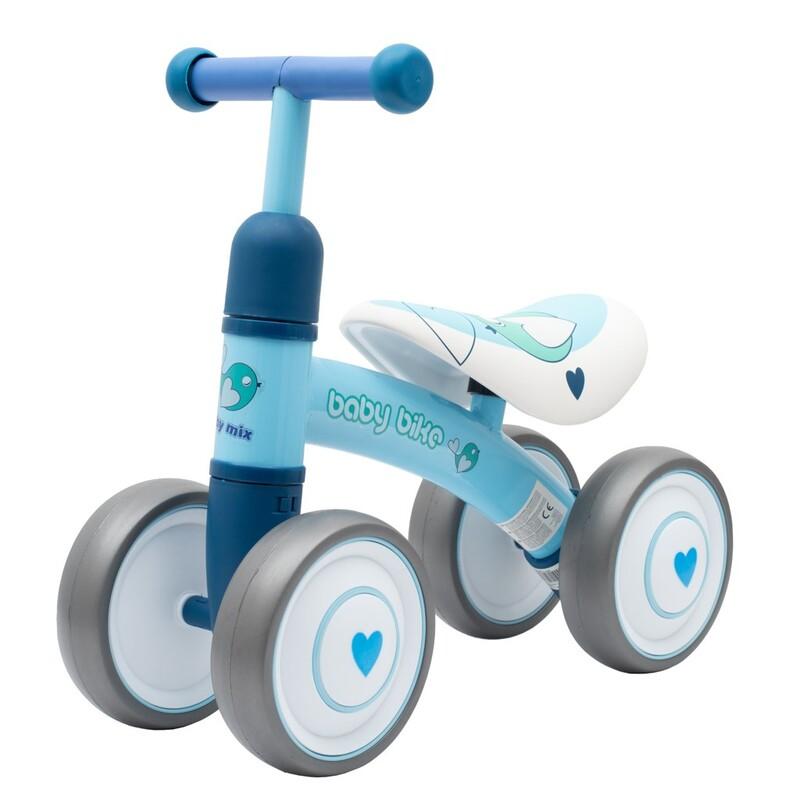 BABY MIX - Detské odrážadlo Baby Bike modrý