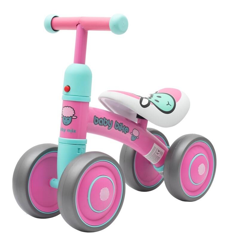 BABY MIX - Detské odrážadlo Baby Bike ružové