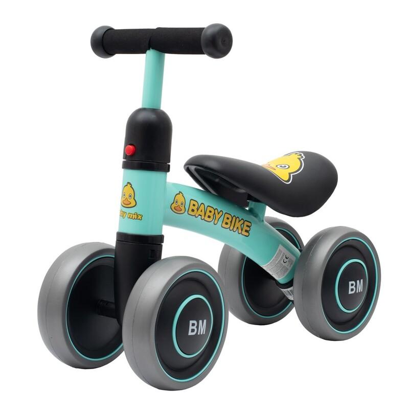 BABY MIX - Detské odrážadlo Baby Bike zelené