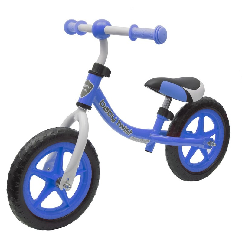 BABY MIX - Detské odrážadlo bicykel TWIST modré