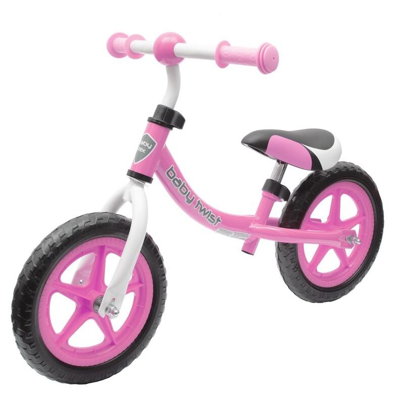 BABY MIX - Detské odrážadlo bicykel TWIST ružové