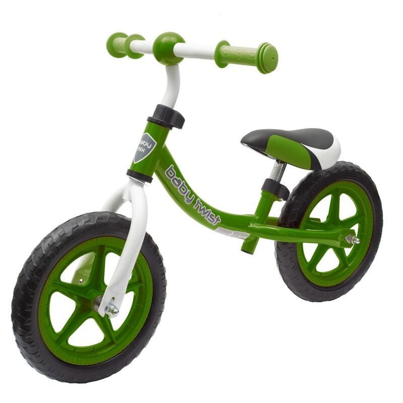 BABY MIX - Detské odrážadlo bicykel TWIST zelené