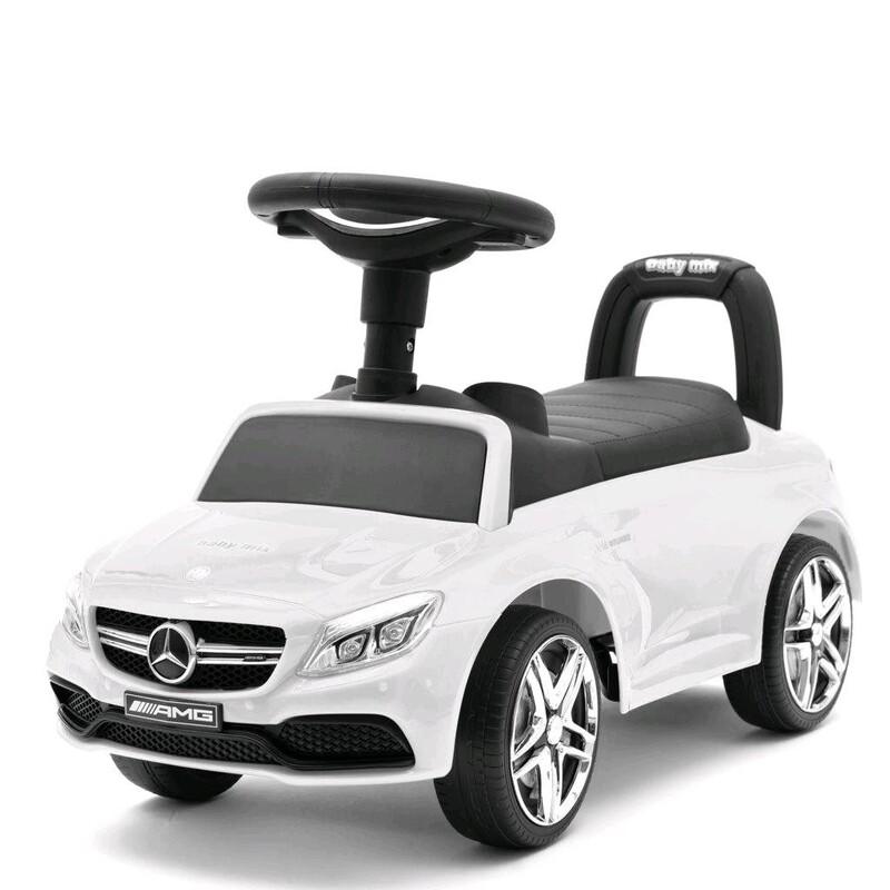 BABY MIX - Detské odrážadlo Mercedes Benz AMG C63 Coupe biele