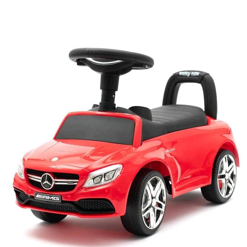 BABY MIX - Detské odrážadlo Mercedes Benz AMG C63 Coupe červené
