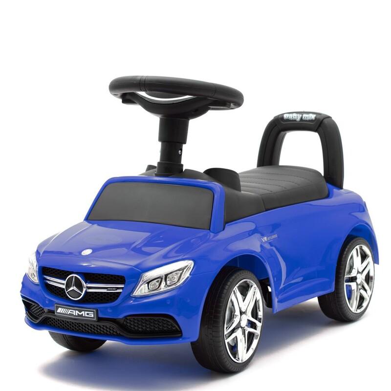 BABY MIX - Detské odrážadlo Mercedes Benz AMG C63 Coupe modré