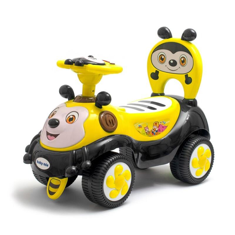 BABY MIX - Detské odrážadlo so zvukom Happy Bee žlté