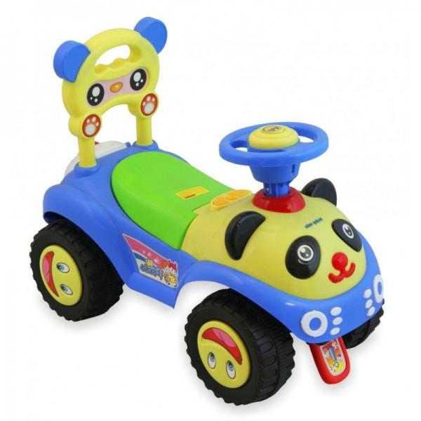 BABY MIX - Detské odstrkovadlo Panda - modré