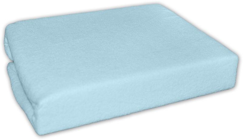 BABY NELLYS - Froté plachta do postielky 120x60cm - Modré