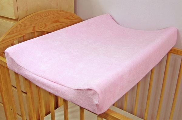 BABY NELLYS - Jersey poťah na prebaľovaciu podložku ružový
