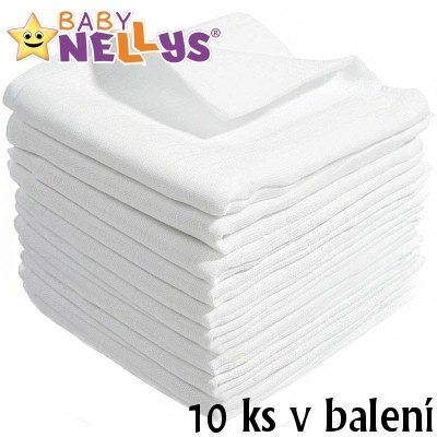 BABY NELLYS - Kvalitné bavlnené plienky - Tetra Basic 70x80 cm