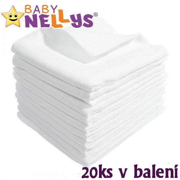 BABY NELLYS - Kvalitné bavlnené plienky - Tetra Basic 80x80cm