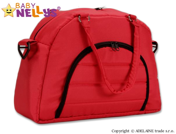 BABY NELLYS - Taška na kočík ® ADELA LUX - červená