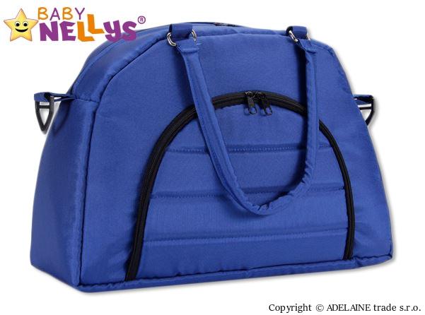 BABY NELLYS - Taška na kočík ® ADELA LUX -granátová / tm.modrá