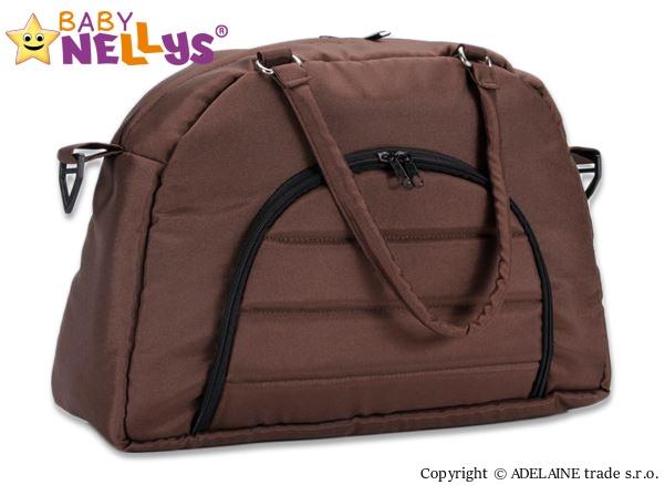 BABY NELLYS - Taška na kočík ® ADELA LUX - hnedá
