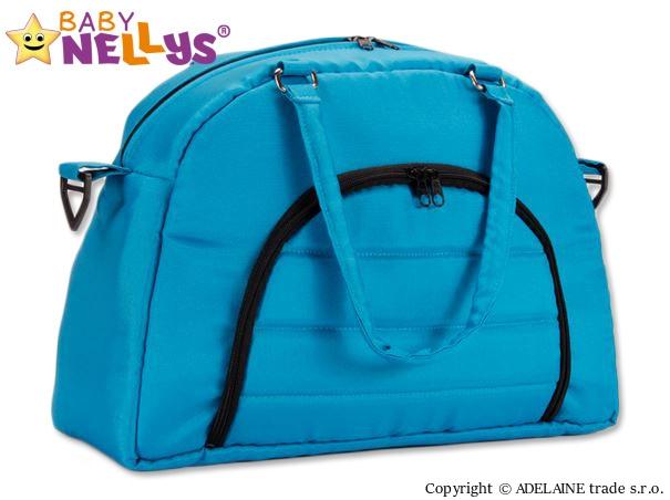 BABY NELLYS - Taška na kočík ® ADELA LUX - modrá / tyrkysová