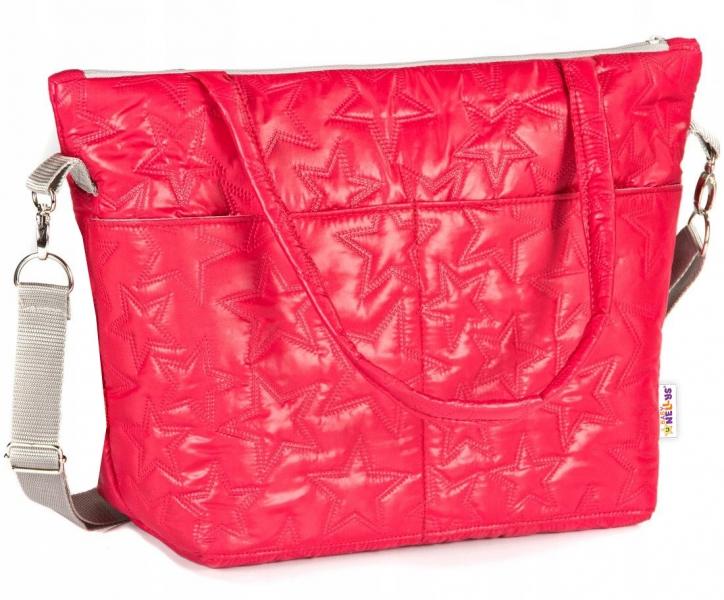 BABY NELLYS - Taška na kočík Star, - červená
