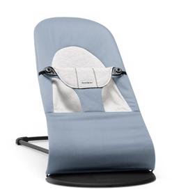 BABYBJÖRN - Lehátko Soft Blue/Grey, Cotton/Jersey