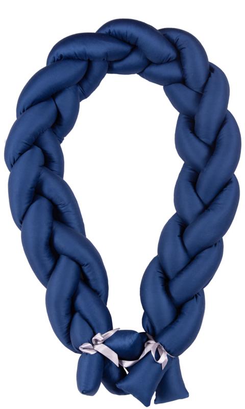 BABYMATEX - Mantinel do postieľky Vrkoč 200cm modrá