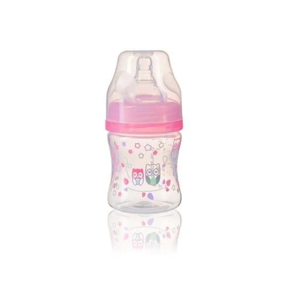 BABYONO - Fľaša antikoliková KLASIK ružová 120 ml 0m+