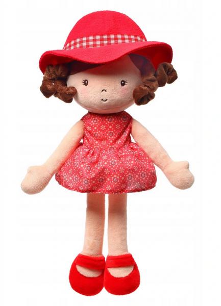 BABYONO - Handrová bábika Poppy Doll, červená