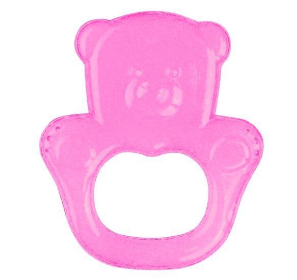 BABYONO - Hryzačka chladiaca gélová medveď - ružová