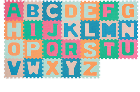 BABYONO - Penové puzzle Abeceda, 26 ks