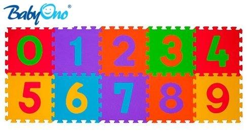 BABYONO - Penové puzzle - Čísla - 10ks