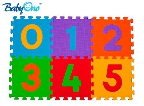 BABYONO - Penové puzzle - Čísla - 6ks