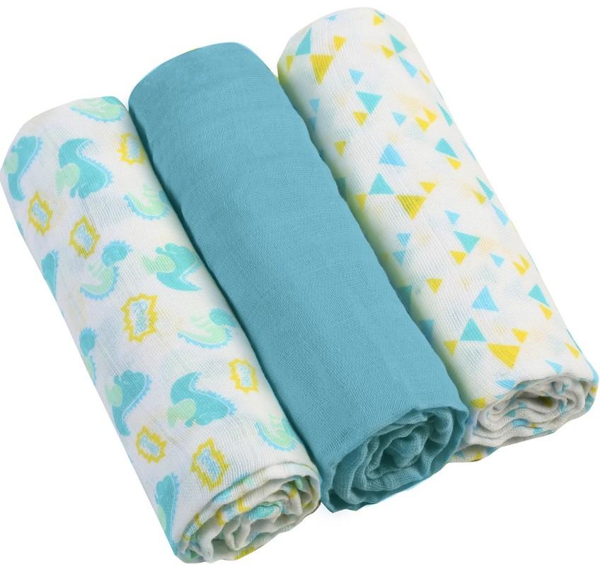 BABYONO - Plienky mušelínové - Super soft 3ks - Modré