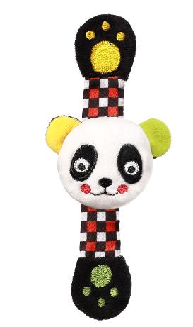 BABYONO - Plyšová hrkálka na ruku Panda Archie, 16 cm