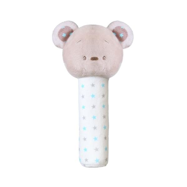 BABYONO - Plyšová pískacia hračka Bear Tony, 17 cm