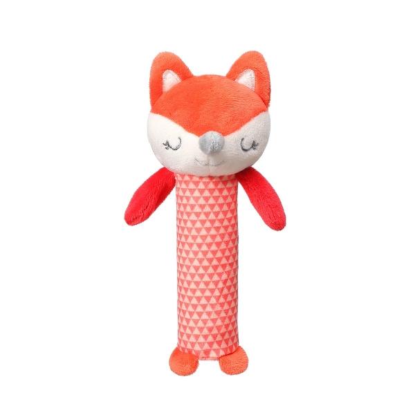 BABYONO - Plyšová pískacia hračka Fox Vincent, 17 cm