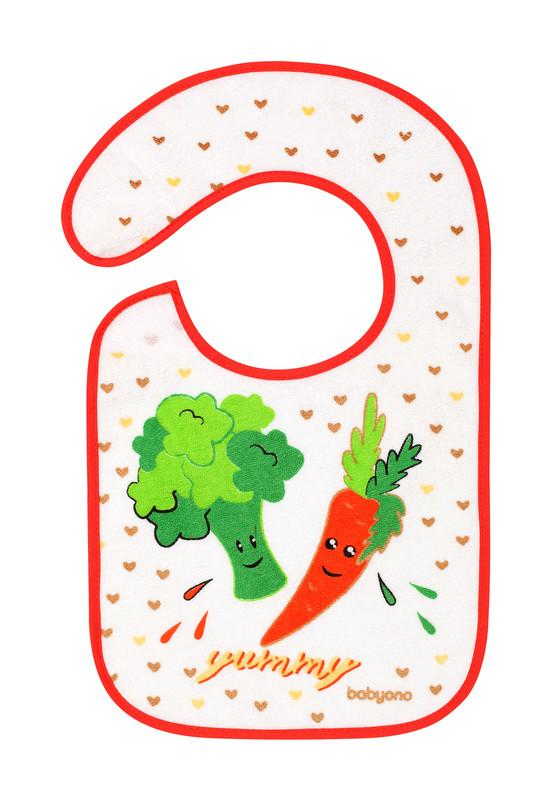BABYONO - Podbradník Froté, stredný, vodeodolný 6m+ zelenina
