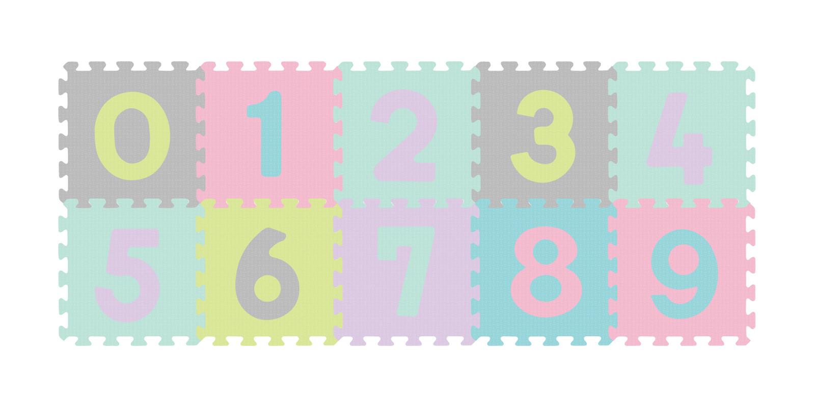 BABYONO - Puzzle penové čísla 10 ks, 6m+