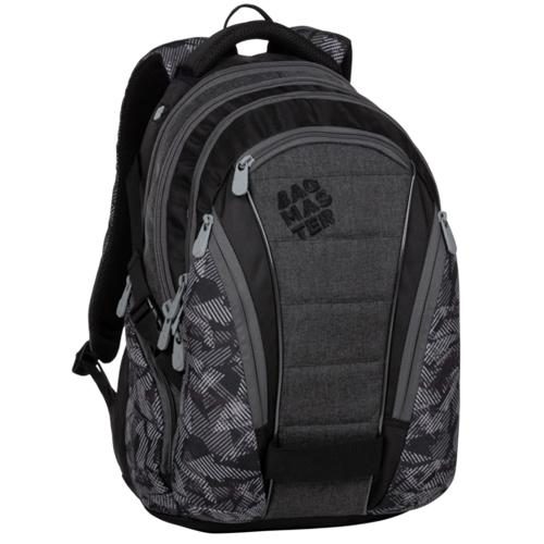 BAGMASTER - Študentský batoh BAG 20 A GRAY/BLACK
