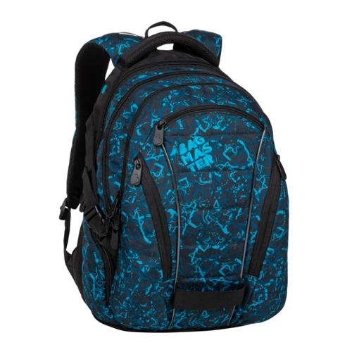 BAGMASTER - Študentský batoh BAG 20 B BLUE/BLACK
