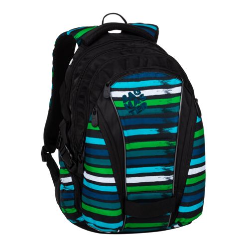 BAGMASTER - Študentský batoh BAG 20 C BLUE/GREEN/BLACK/WHITE