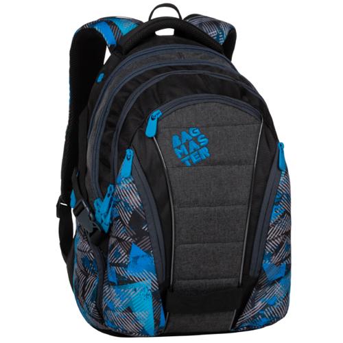 BAGMASTER - Študentský batoh BAG 20 D BLUE/GREY/BLACK