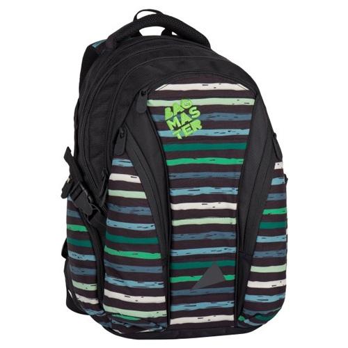 BAGMASTER - Študentský batoh BAG 7 CH BLACK/GREEN