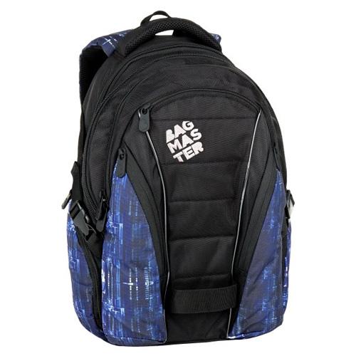 BAGMASTER - Študentský batoh BAG 7 G BLACK/BLUE/WHITE