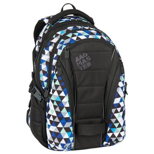 BAGMASTER - Študentský batoh BAG 7 I BLACK/BLUE/GREY