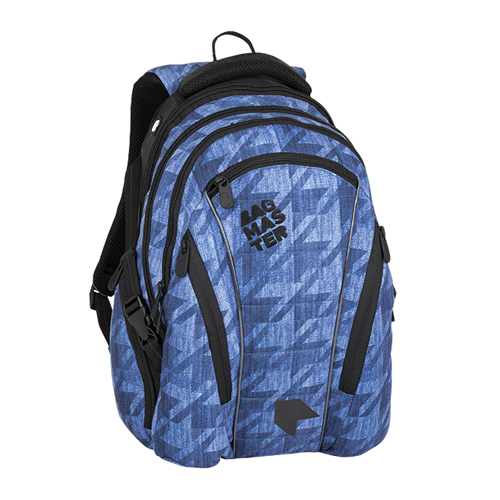 BAGMASTER - Študentský batoh BAG 8 B BLUE/BLACK