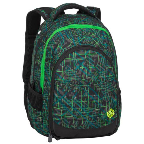 BAGMASTER - Študentský batoh DIGITAL 20 D GREEN/BLACK/GRAY