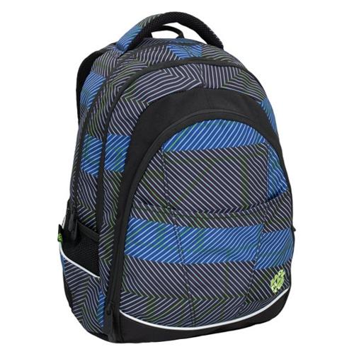 BAGMASTER - Študentský batoh DIGITAL 6 C BLACK/BLUE/GREEN
